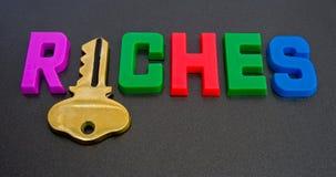 ¿Clave a la riquezas? Fotos de archivo libres de regalías
