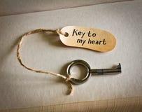 Clave a mi corazón Imágenes de archivo libres de regalías