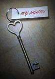 Clave a mi corazón Foto de archivo libre de regalías