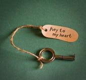 Clave a mi corazón Imagen de archivo