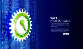 Clave privada para la red y la protección de datos Foto de archivo