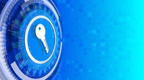 Clave privada para la red y la protección de datos Imagen de archivo