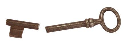 Clave quebrado de la puerta Imagenes de archivo