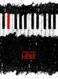 Clave rojo sucio del piano Fotografía de archivo