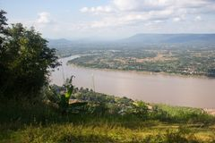 Clave una fotografía con tachuelas el río Mekong en Nong Khai Fotos de archivo libres de regalías
