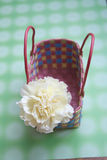 Clavel en la cesta Fotografía de archivo libre de regalías