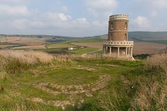 Clavell Tower Kimmeridge Bay east of Lulworth Cove Dorset coast England uk Royalty Free Stock Photos