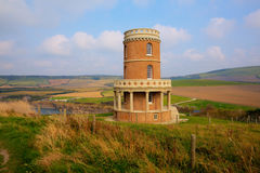Clavell Tower landmark Kimmeridge Bay east of Lulworth Cove Dorset coast England uk. Clavell Tower overlooking Kimmeridge Bay east of Lulworth Cove on the Dorset royalty free stock photo