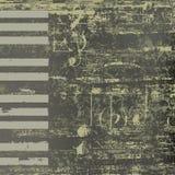 Claves abstractos del piano del grunge del fondo del jazz Fotografía de archivo