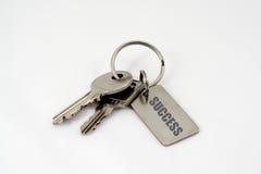Claves al éxito. Imagen de archivo libre de regalías