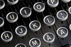 Claves antiguos de la máquina de escribir. Imagenes de archivo