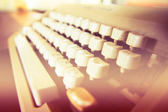 Claves antiguos de la máquina de escribir Imágenes de archivo libres de regalías