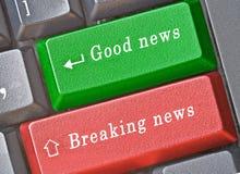 Claves calientes para las noticias Imagen de archivo libre de regalías