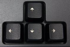 Claves con las flechas Imagenes de archivo