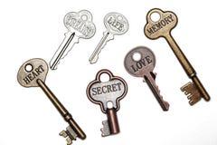 Claves con palabras Foto de archivo libre de regalías