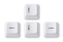 Claves de flecha del ordenador Imagenes de archivo