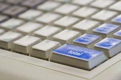 Claves de la caja registradora Fotografía de archivo