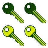 Claves de la casa verde Fotos de archivo libres de regalías