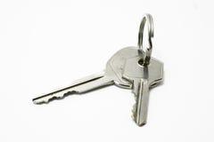 Claves de la casa y del coche Imágenes de archivo libres de regalías
