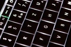 claves de la computadora portátil Imágenes de archivo libres de regalías