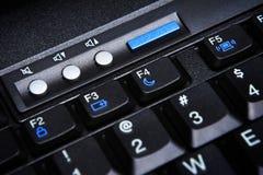 Claves de la computadora portátil de los multimedia Imagen de archivo