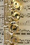Claves de la flauta Fotografía de archivo libre de regalías
