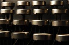 Claves de la máquina de escribir foto de archivo