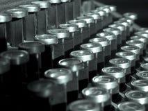 Claves de la máquina de escribir Imágenes de archivo libres de regalías