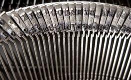 Llaves de la máquina de escribir imagen de archivo libre de regalías