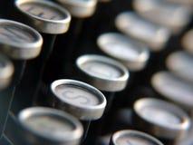 Claves de la máquina de escribir antigua Imagen de archivo