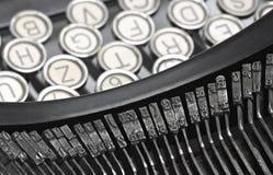 Claves de la máquina de escribir del viejo estilo. Imágenes de archivo libres de regalías