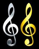Claves de la música Foto de archivo libre de regalías