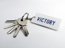 Claves de la victoria Fotos de archivo libres de regalías