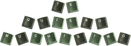 Claves de Te Quiero Muchisimo imagen de archivo