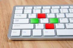 Claves de teclado Fotos de archivo libres de regalías