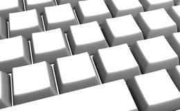 Claves de teclado blancos en blanco Imagen de archivo libre de regalías