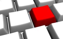 Claves de teclado blancos en blanco Imágenes de archivo libres de regalías
