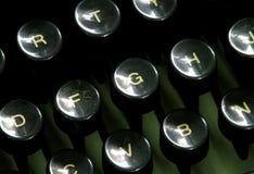 Claves de una máquina de escribir vieja Fotografía de archivo libre de regalías