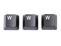 Claves de WWW Fotos de archivo