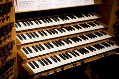 Claves del órgano de tubo Imágenes de archivo libres de regalías