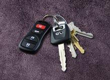 Claves del coche Fotos de archivo