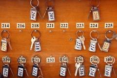 Claves del hotel foto de archivo