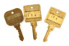 claves del hotel de los años 80 Fotografía de archivo