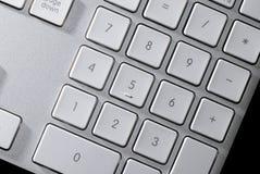 Claves del número en el teclado Imágenes de archivo libres de regalías