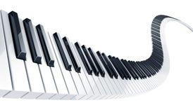Claves del piano Fotos de archivo libres de regalías