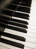 Claves del piano en sepia Imágenes de archivo libres de regalías