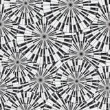 Claves del piano Ilustración inconsútil del vector Foto de archivo