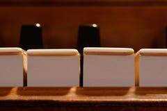 Claves del piano, macro Imagen de archivo