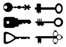 Claves del vector Ilustración del Vector