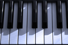 Claves eléctricos del piano Imágenes de archivo libres de regalías